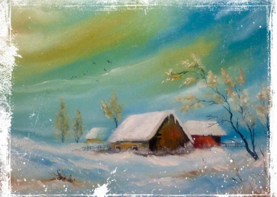 Picturi de iarna In pustiul iernii
