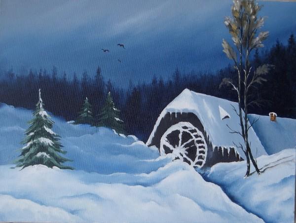 Picturi de iarna Moara in zapada