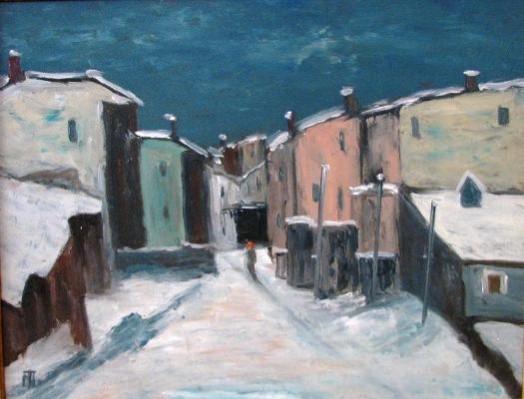 Picturi de iarna Iarna in mahala