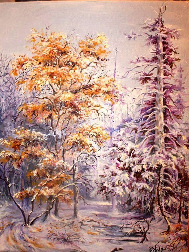 Picturi de iarna in pereche..