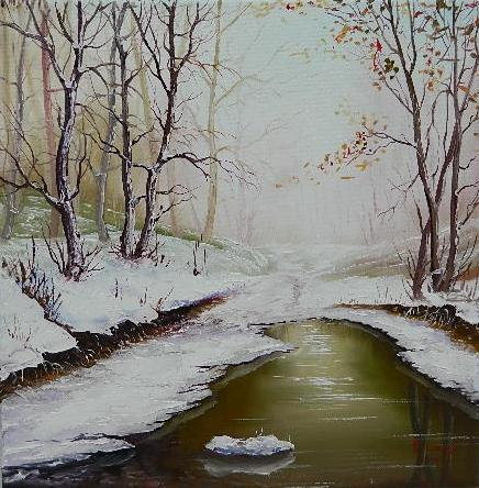 Picturi de iarna iarna verde