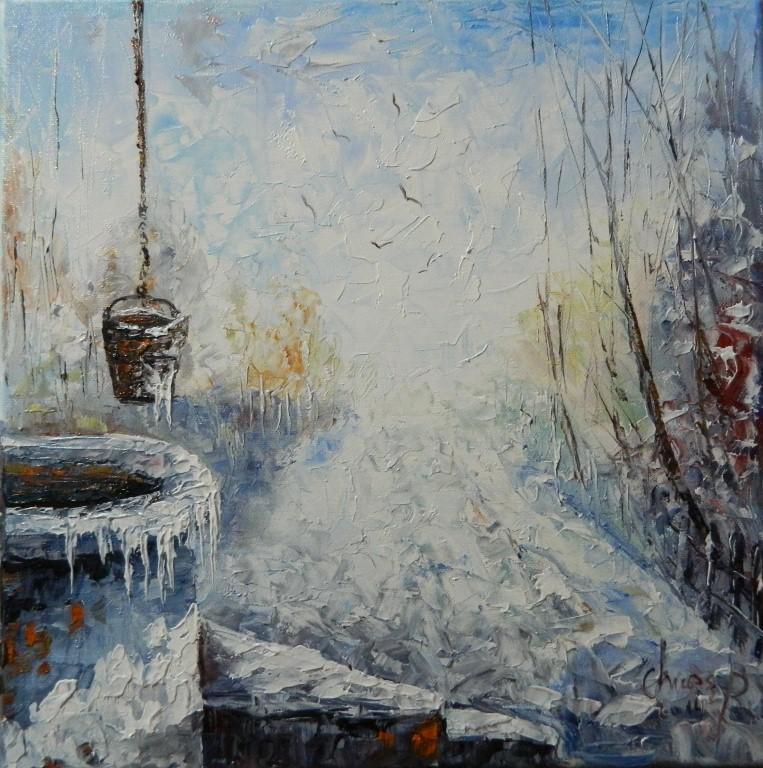 Picturi de iarna la fantana