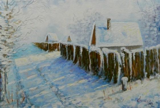 Picturi de iarna Pe ulita