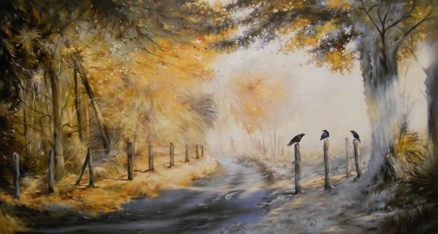 Picturi de iarna cool morning