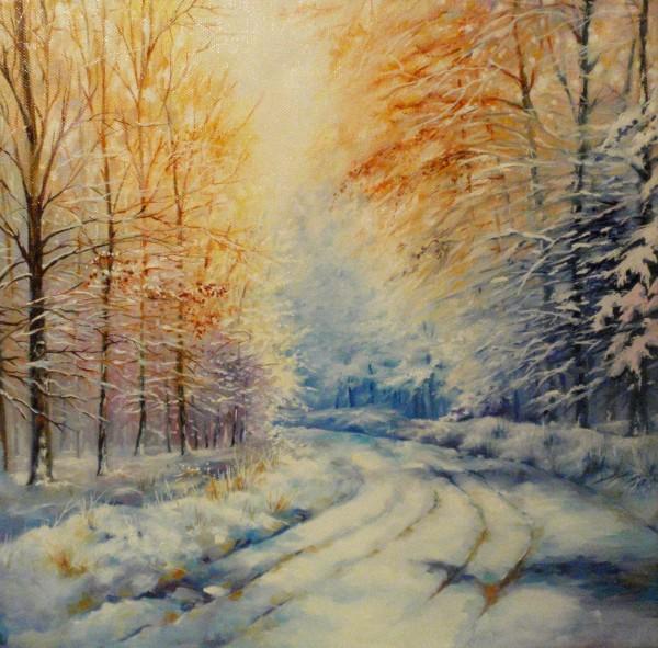 Picturi de iarna Frozen road