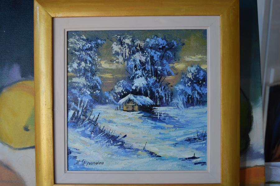 Picturi de iarna ferie in mov