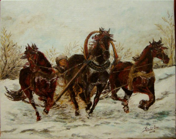 Picturi de iarna Troika i