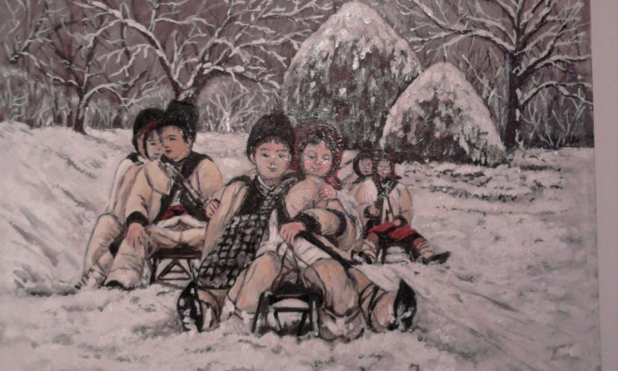 Picturi de iarna La sanius