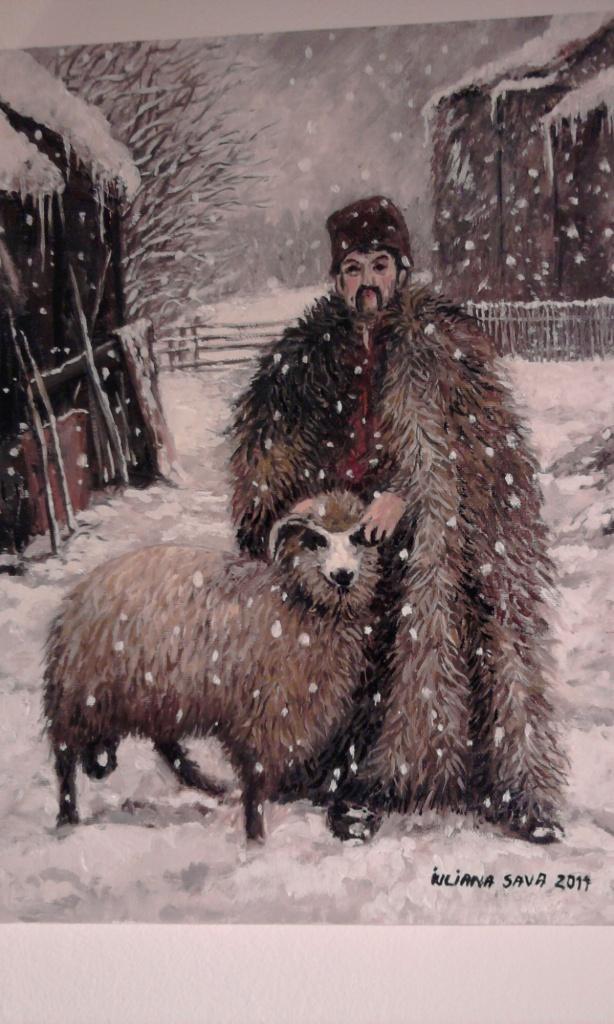 Picturi de iarna La stana