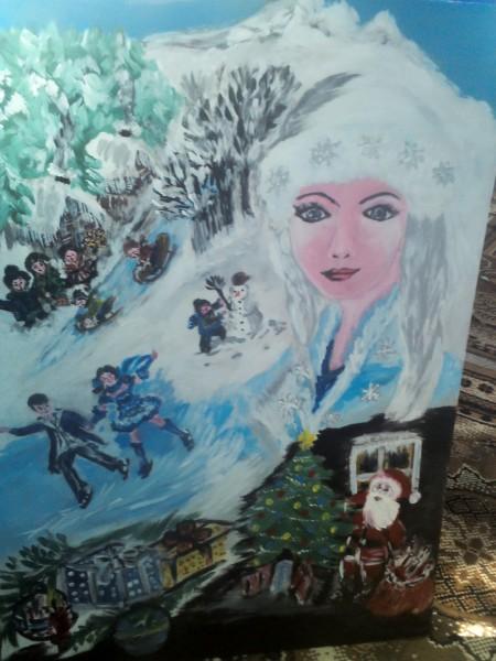Picturi de iarna Iarna copiilor