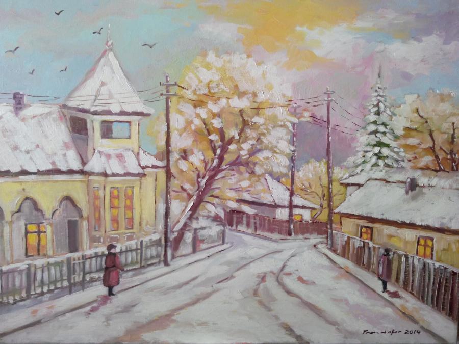 Picturi de iarna Strada Caloianca