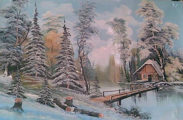 Picturi de iarna Dimineata de iarna