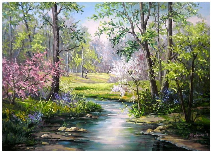 Picturi cu peisaje PRIMAVARA IN CRING