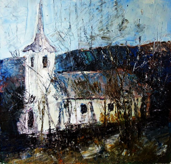 Picturi de primavara Biserica la chidea