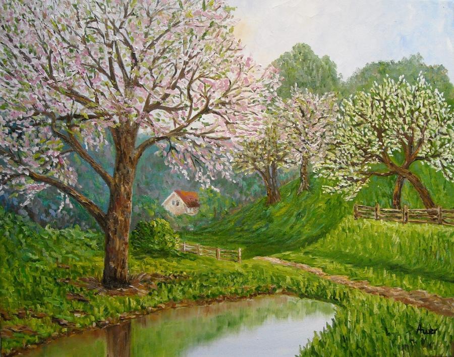 Picturi de primavara Primavara -