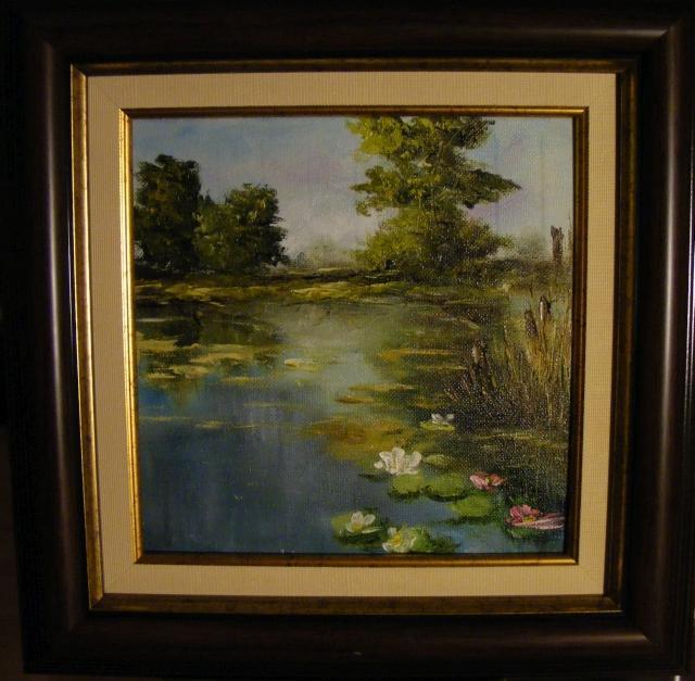 Picturi de primavara Nuferi pe lac
