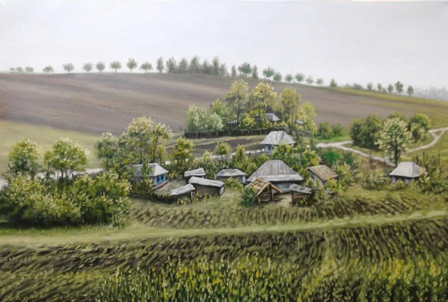 Picturi de primavara dealuri inverzite
