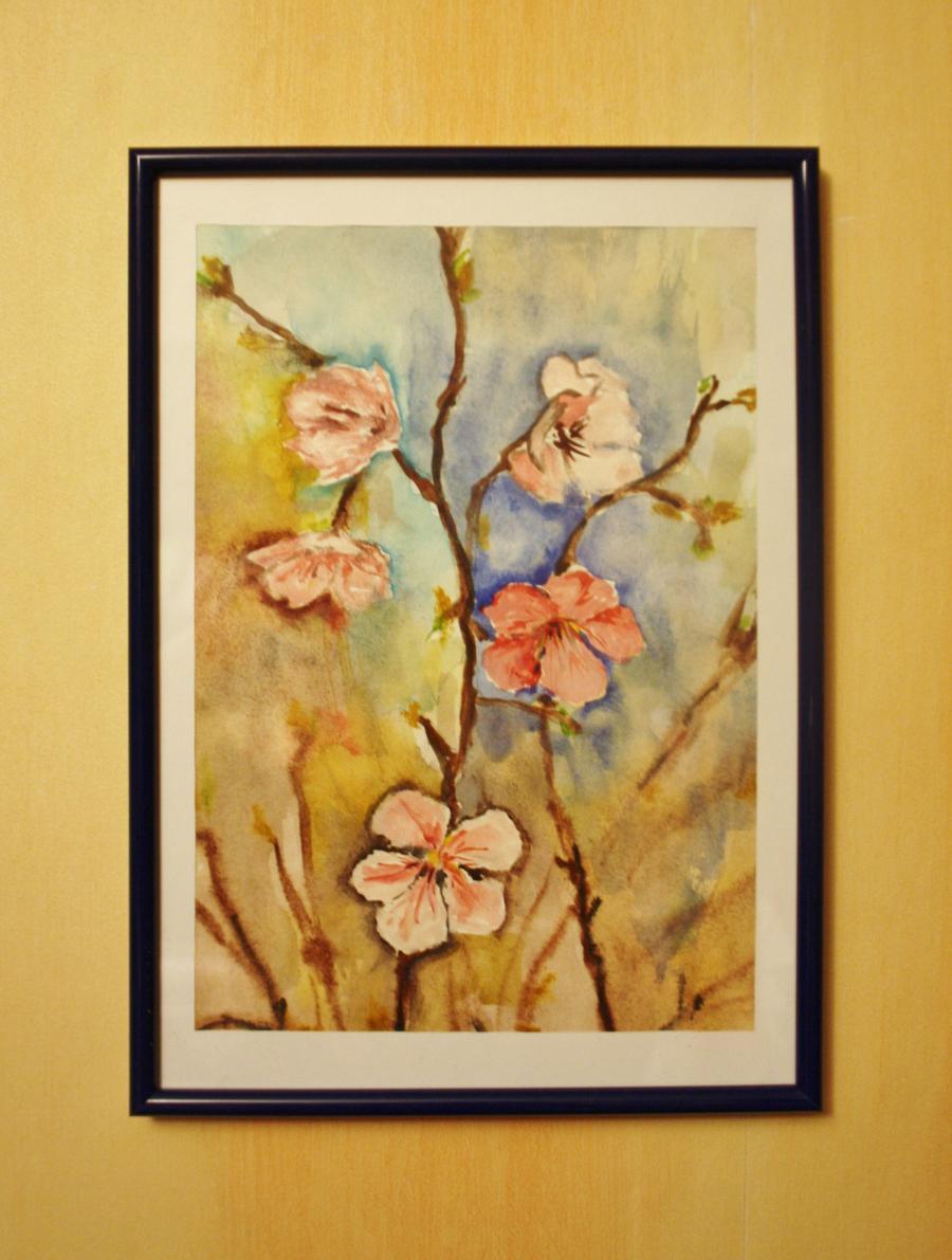 Picturi de primavara Primavara, muguri si flori