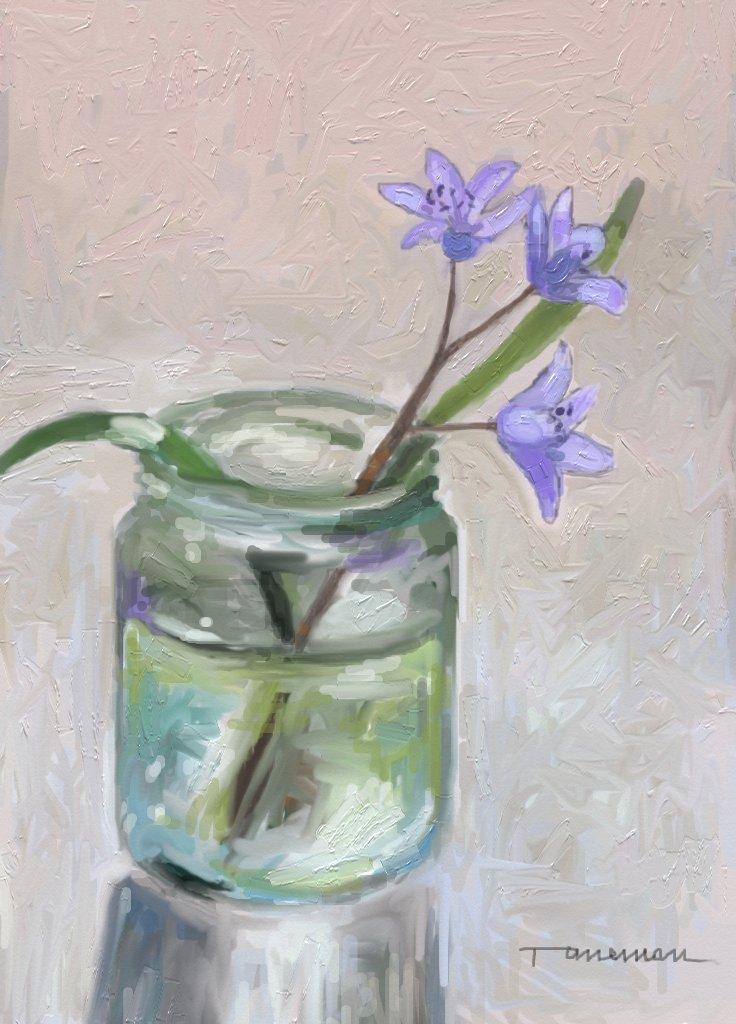 Picturi de primavara o floare de primavara