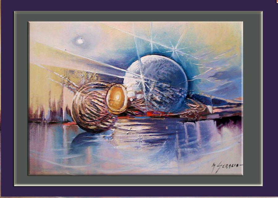 Picturi decor abstract--peisaj astral--9b5