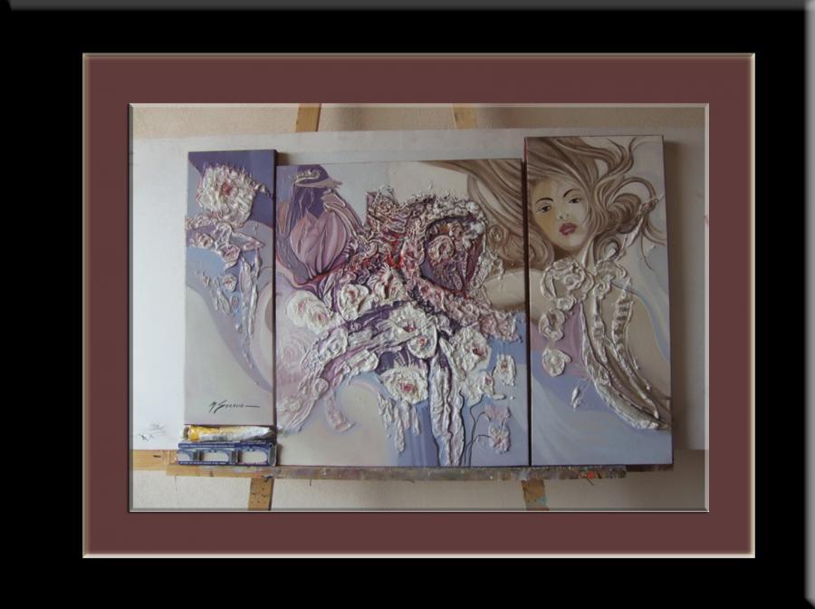 Picturi abstracte/ moderne TRIPTIK ABSTRAC--7y
