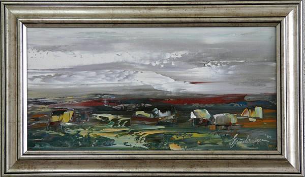Picturi de primavara Peisaj rural r