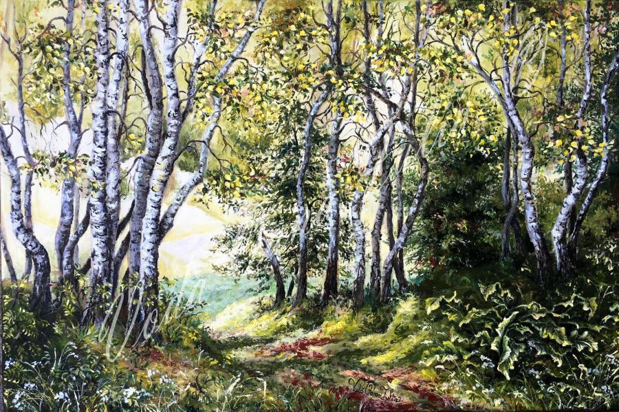 Picturi de primavara La marginea padurii