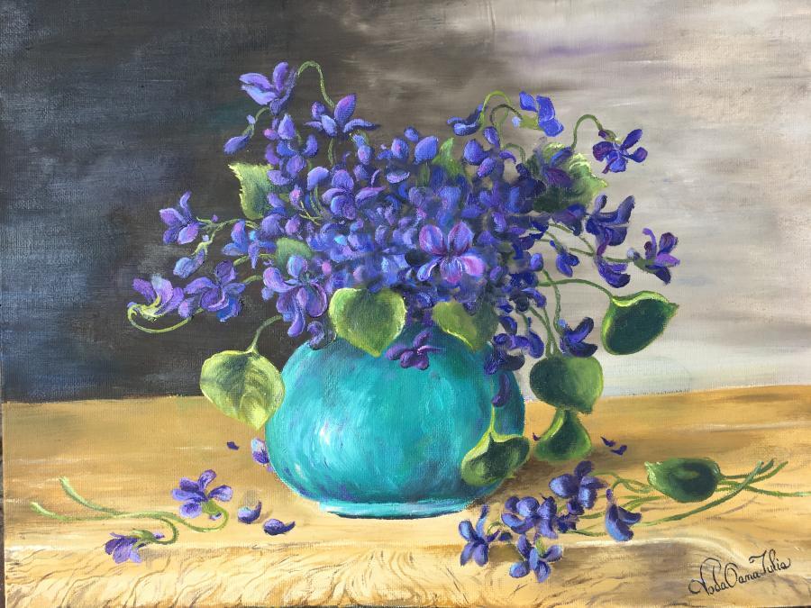 Picturi de primavara Parfum de viorele