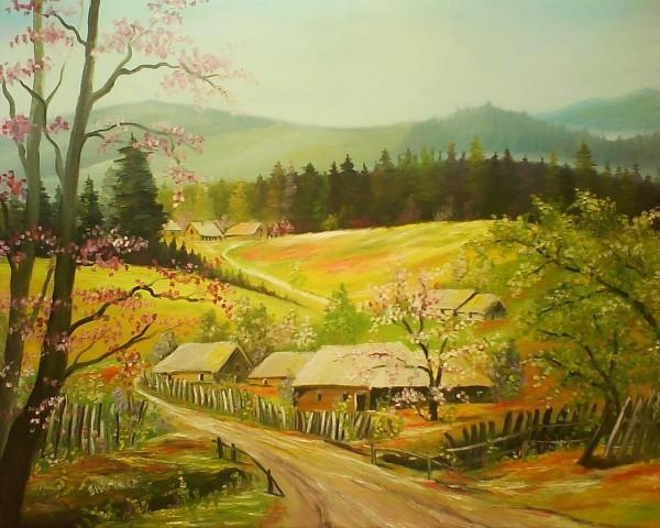 Picturi de primavara Primavara,flori de cais 2..vindut Portugalia .