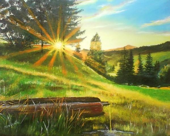 Picturi de primavara Roua diminetii 2