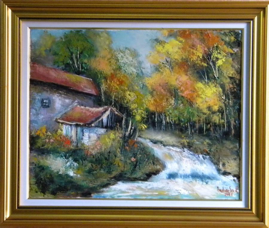 Picturi de toamna TOAMNA IN SPATELE CASEI