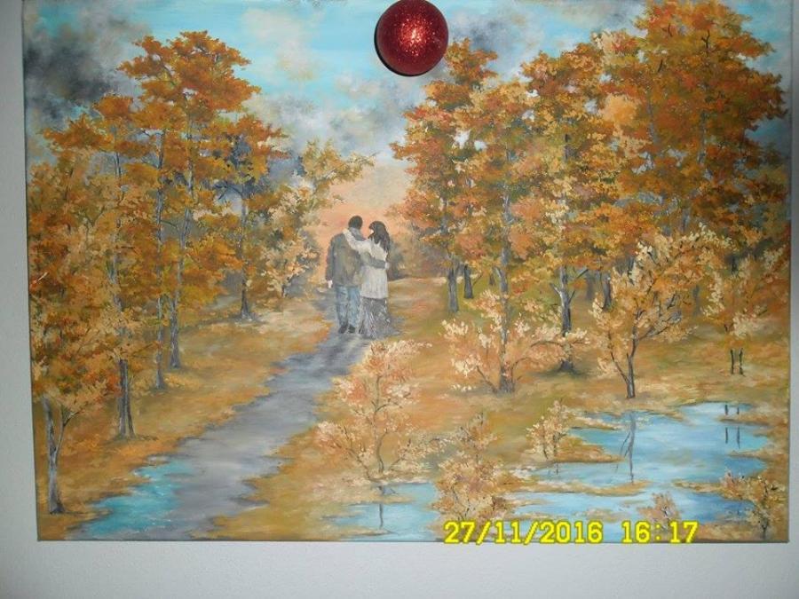Picturi de toamna Plimbare de toamna