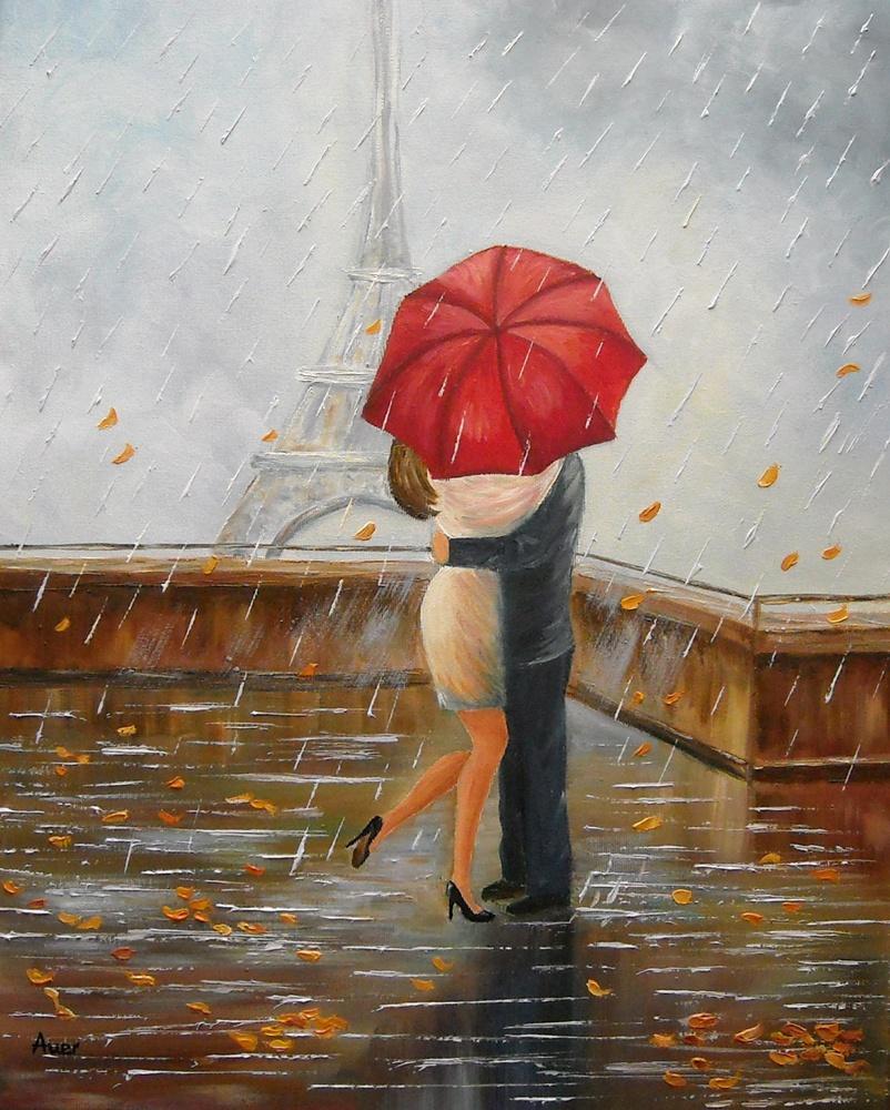 Picturi de toamna Intalnire in ploaie