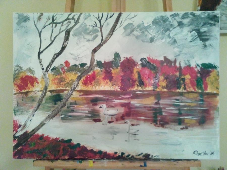 Picturi de toamna Pe lac