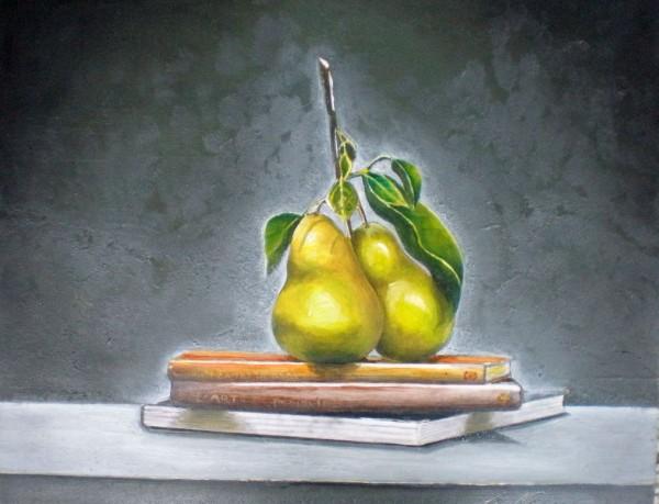 Picturi de toamna Still life cu pere