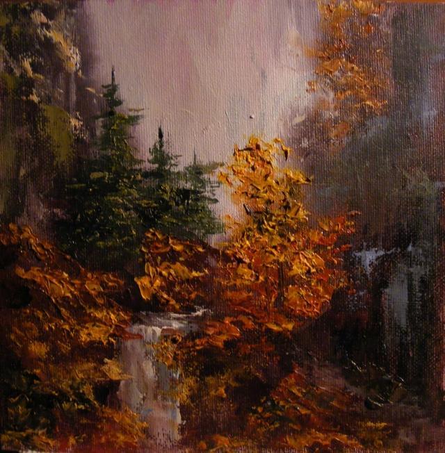 Picturi de toamna Cascada toamna
