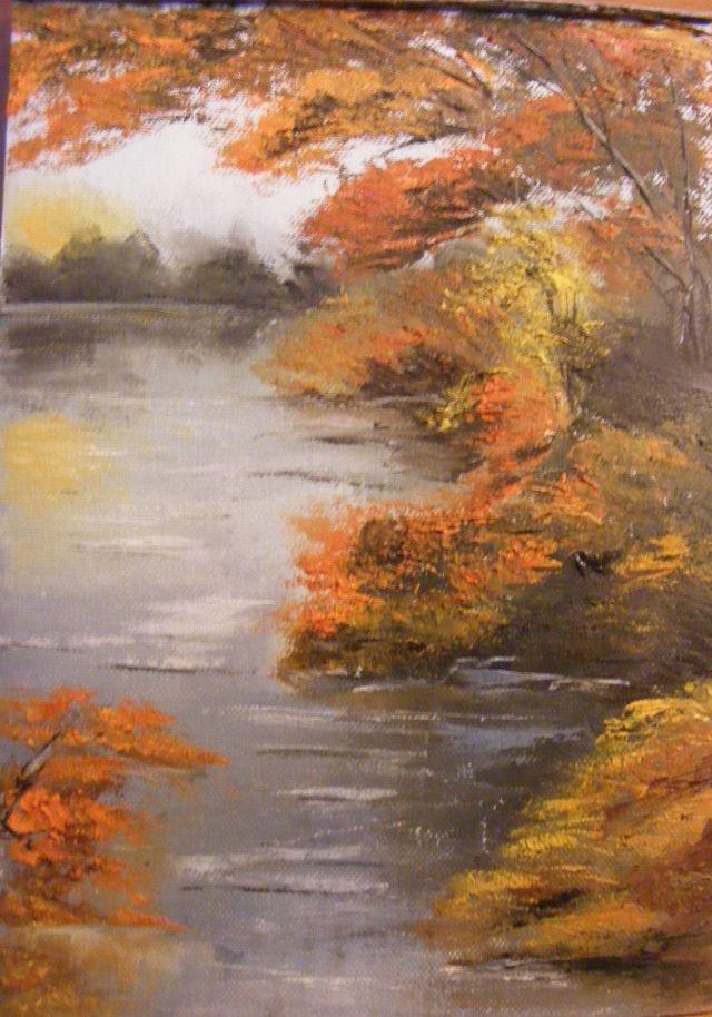Picturi de toamna Dimineata pe lac