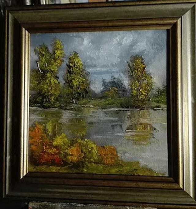 Picturi de toamna Lacul in toamna