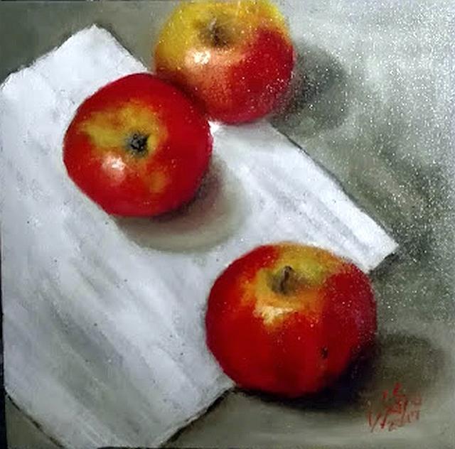 Picturi de toamna Perspectiva cu mere