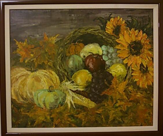 Picturi de toamna cosul cu fructe