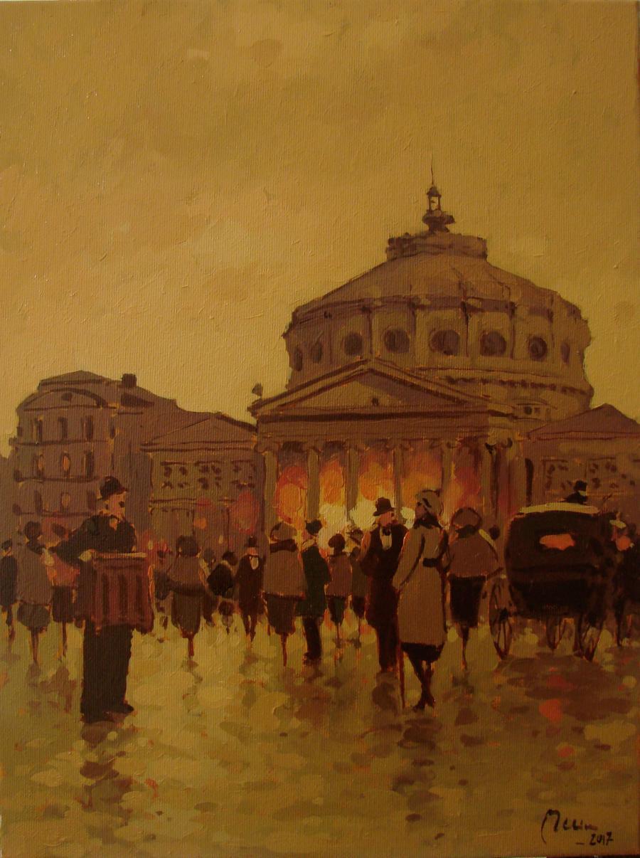 Picturi de toamna Ateneul roman bucuresti