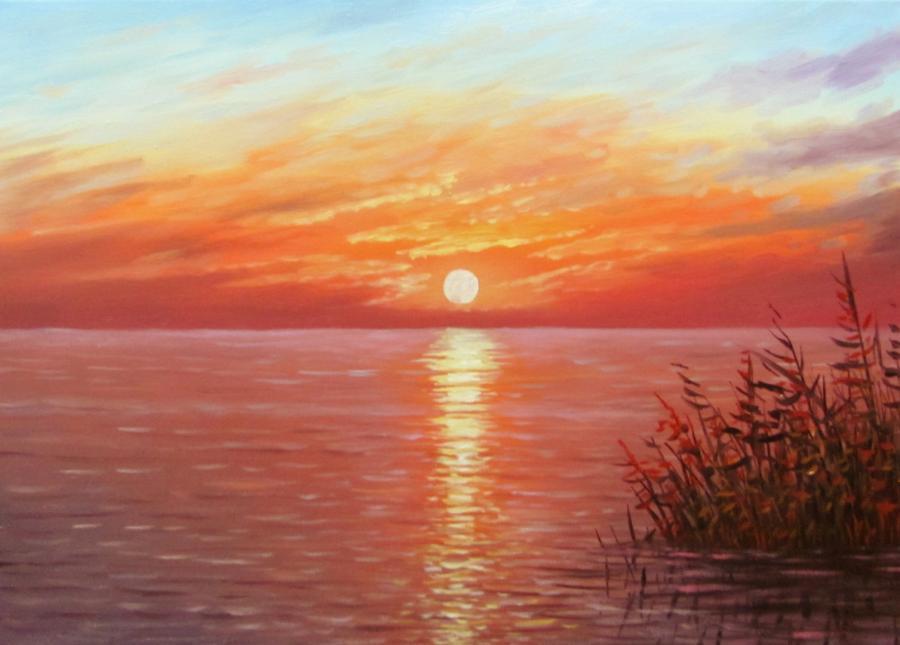 Picturi de toamna apus in delta