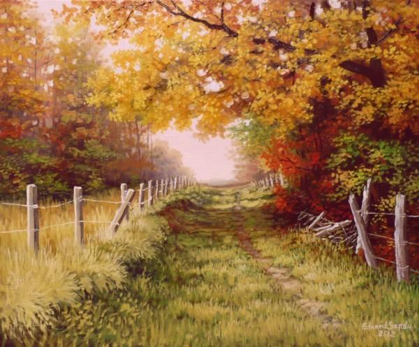 Picturi de toamna Fostul drum