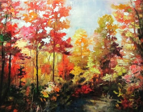 Picturi de toamna Lumina luminisului toamna