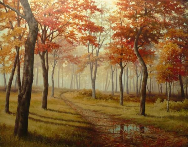 Picturi de toamna Parcul incetosat,dimineata