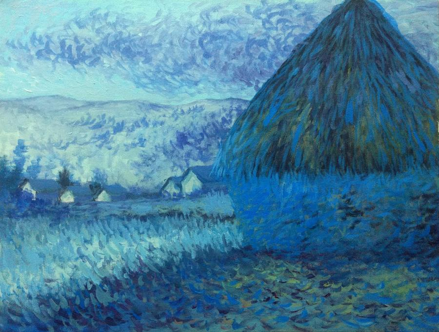 Picturi de toamna peisaj impresionist cu capita, 2017