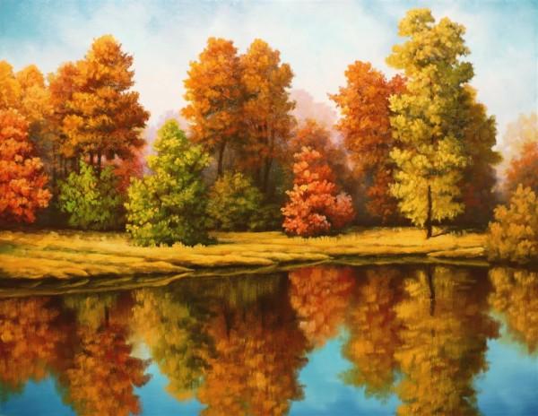 Picturi de toamna Toamna in oglina