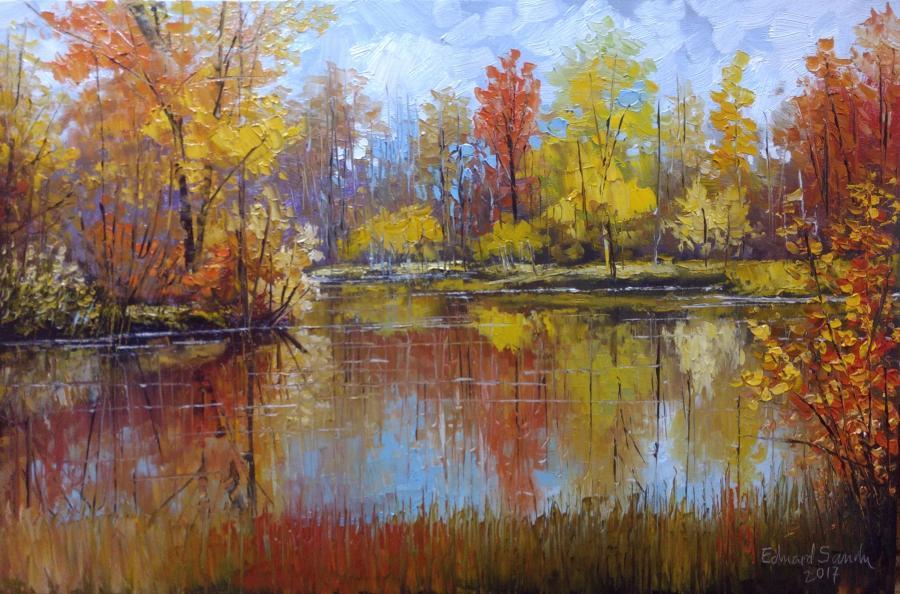 Picturi de toamna Toamna pe lac 2017