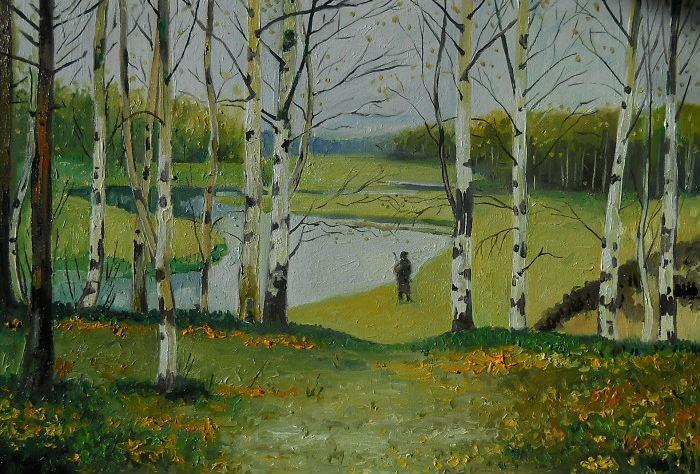 Picturi de toamna peisaj de toamna 4