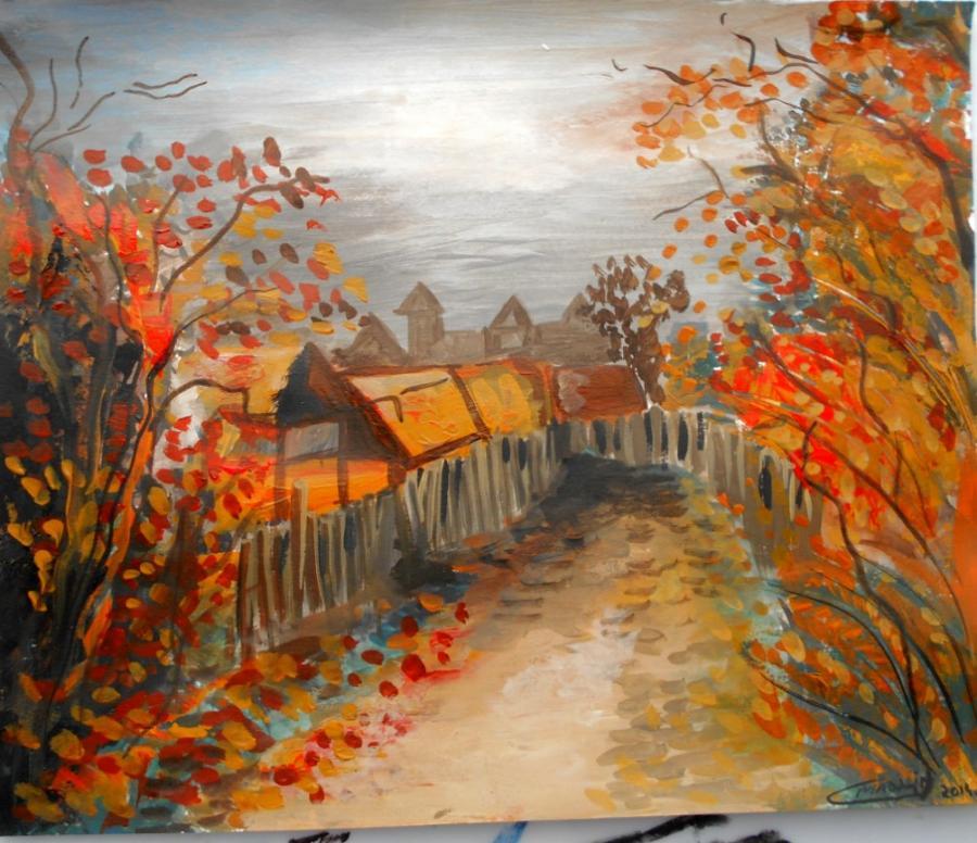 Picturi de toamna Toamna pe ulita 123